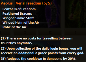 Aelous' Aerial Freedom stats