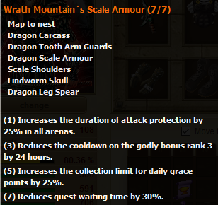 Wrath Mountain's Scale Armour stats