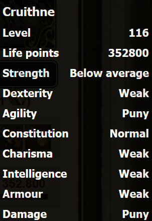 Cruithne stats