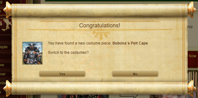 Bubona's Bull Armour piece drop