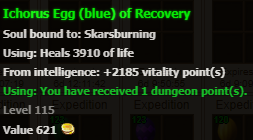 Easter egg (blue) stats
