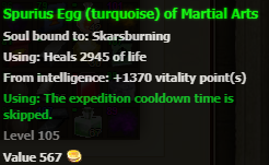 Egg (turquoise) stats
