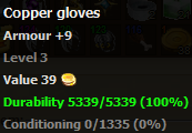 Copper gloves stats