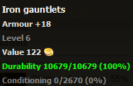 Iron gauntlets stats