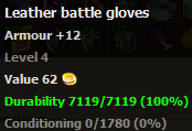 Leather battle gloves stats