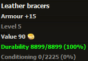 Leather bracers stats