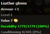 Leather gloves stats