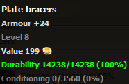 Plate bracers stats