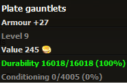 Plate gauntlets stats