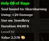 Holy Oil of Rage