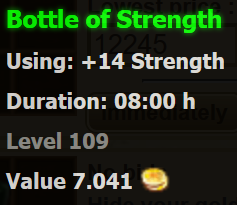 Bottle of Strength stats