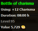 Bottle of charisma stats