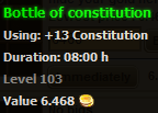 Bottle of constitution stats