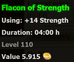 Flacon of Strength stats
