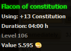 Flacon of constitution stats
