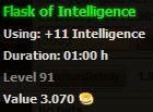 Flask of Intelligence stats