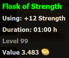 Flask of Strength stats