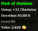 Flask of charisma stats