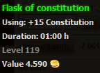 Flask of constitution stats