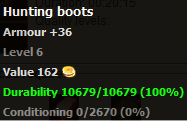 Hunting boots stats