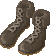 Leather battle boots