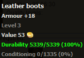 Leather boots stats