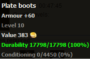 Plate boots stats
