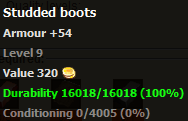 Studded boots stats