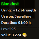 Blue dust stats