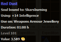 Red dust stats