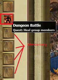 Dungeon characters view