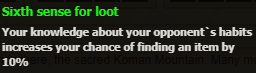 Sixth sense for loot