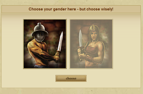 Choose gender